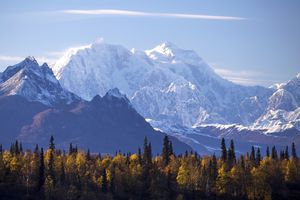 View of Mount Hunter, Denali National Park and Preserve, Alaska