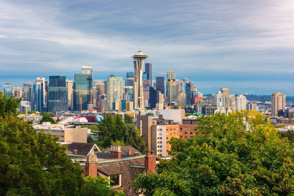 Skyline of Seattle Washington USA