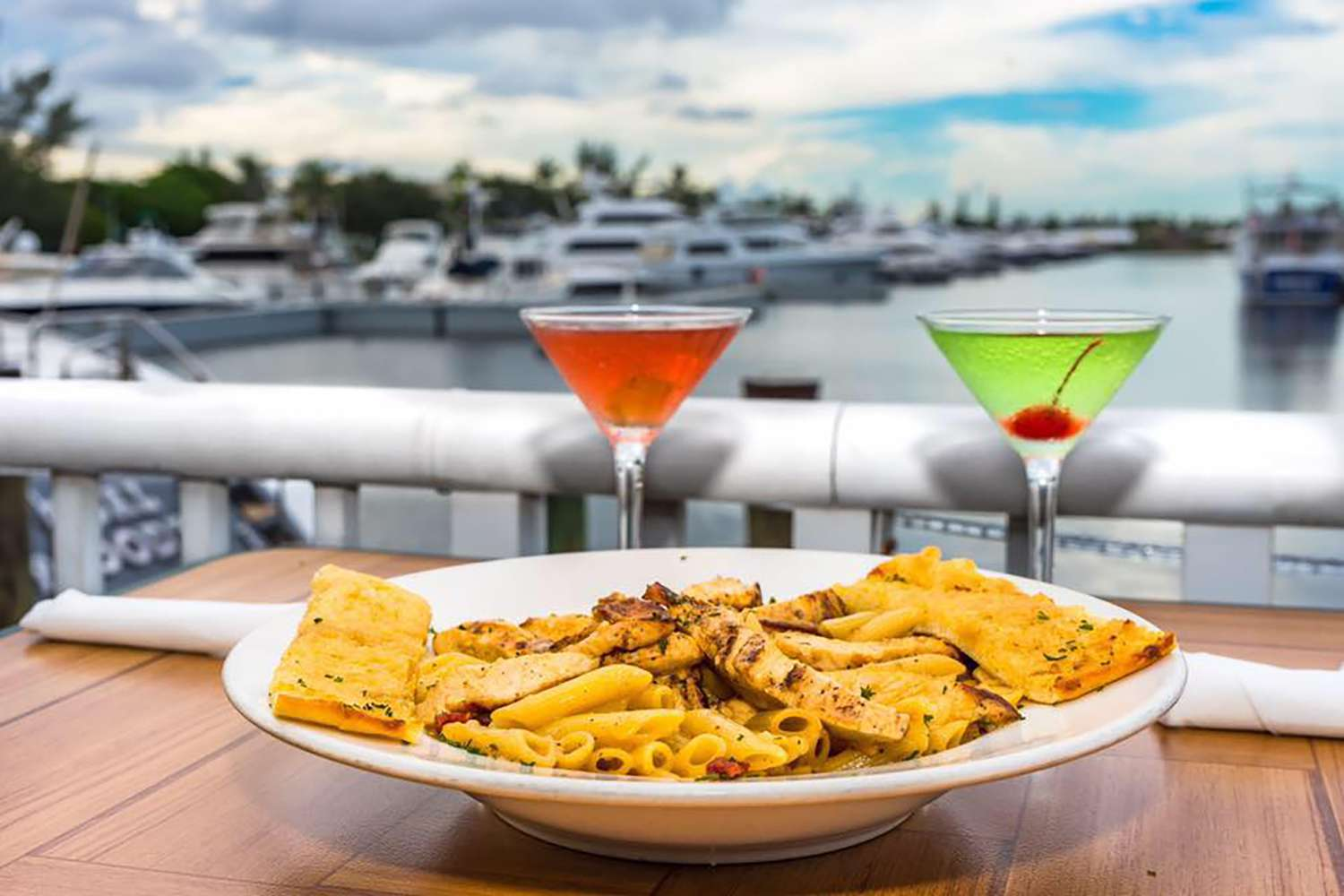 Food by the water at Rendezvous Bar & Grill