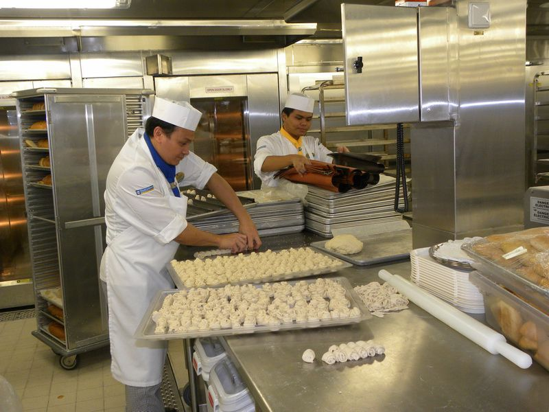 Allure of the Seas - Making Pastry in the Galley