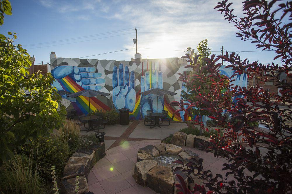 Mural named Many Hands by Meghan Meier in Laramie