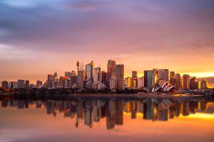 Sydney CBD at Sunset