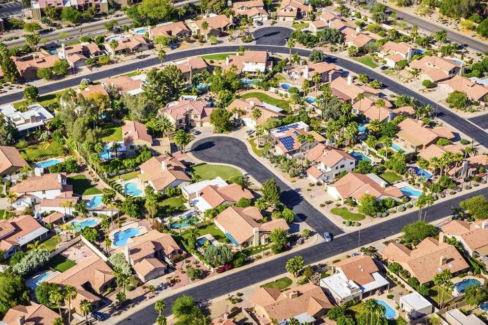 Scottsdale Housing tract near Phoenix