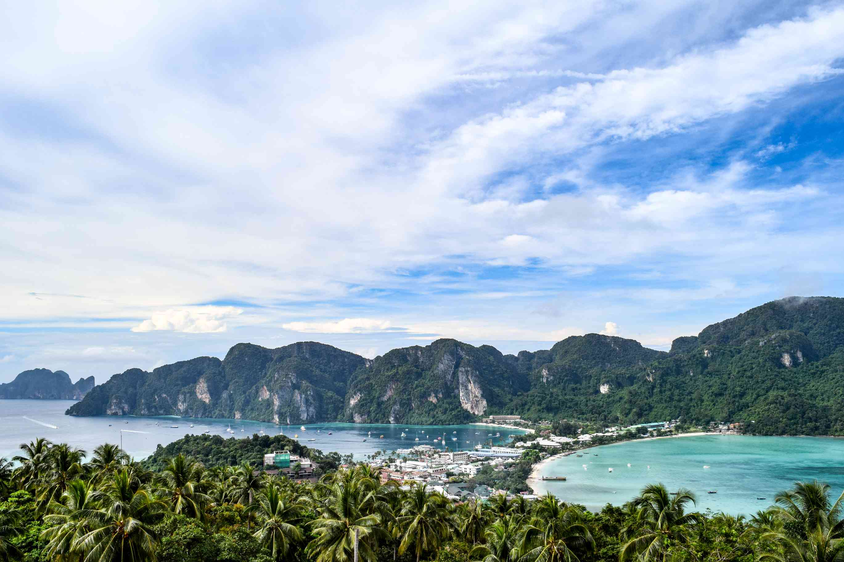 Wide view of Koh Phi Phi Island