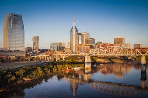 Early morning over Nashville, Tennessee, USA