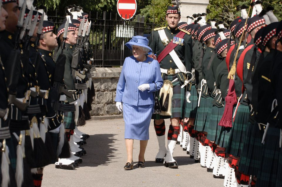 Queen Elizabeth II Arrives In Balmoral