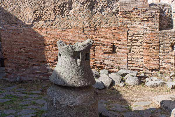 Milling Aparatus for the Bakery at Ostia Antica