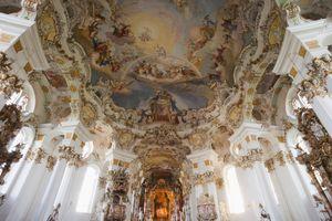 Wieskirche, Wies, UNESCO World Heritage Site, Romantic Road, Bavaria, Germany, Europe