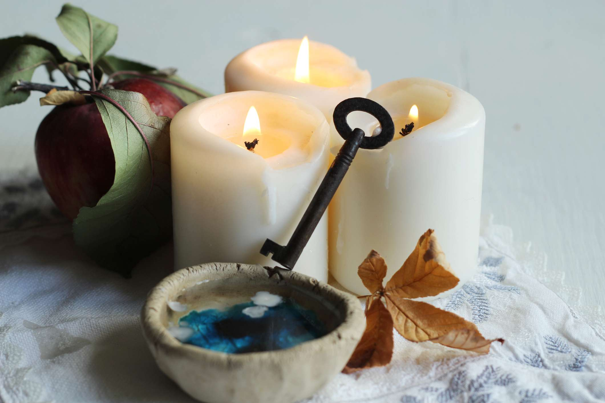 tradition polish wax divination on the eve of St. Andrew