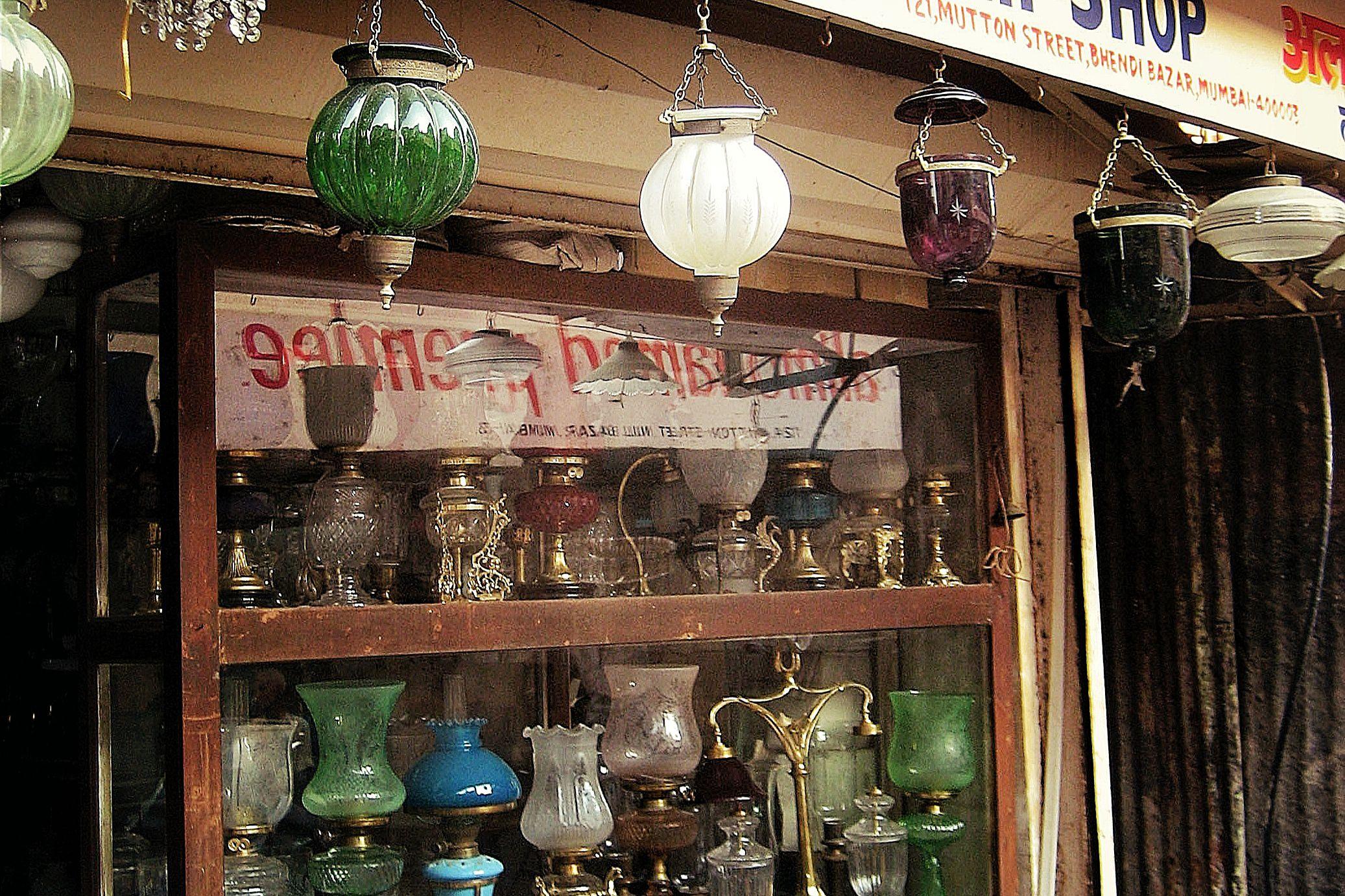 Lamp shop at 121 Mutton Street, Mumbai