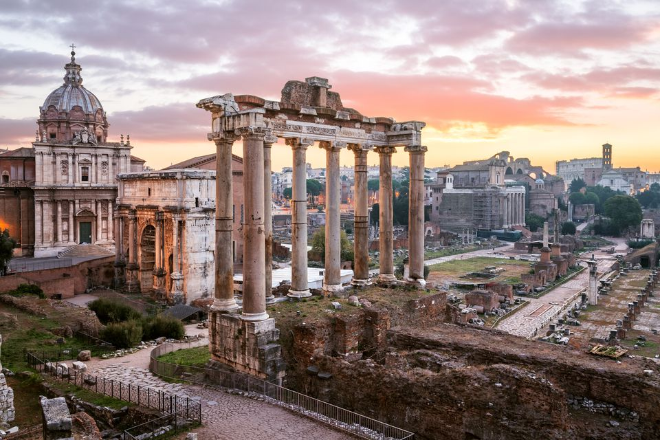 Sunrise Roman Forum Rome Italy