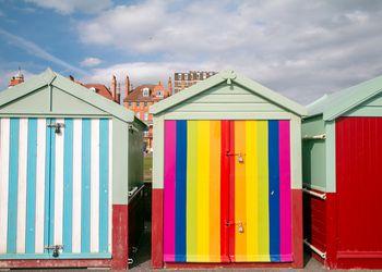 Hove Beach Huts in Brighton & Hove, England