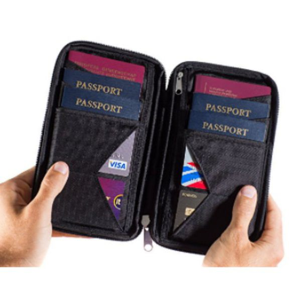 Unisex Passport Holder Protector Wallet Business Card Soft Passport Cover Solid Color Handbags Tote Bags
