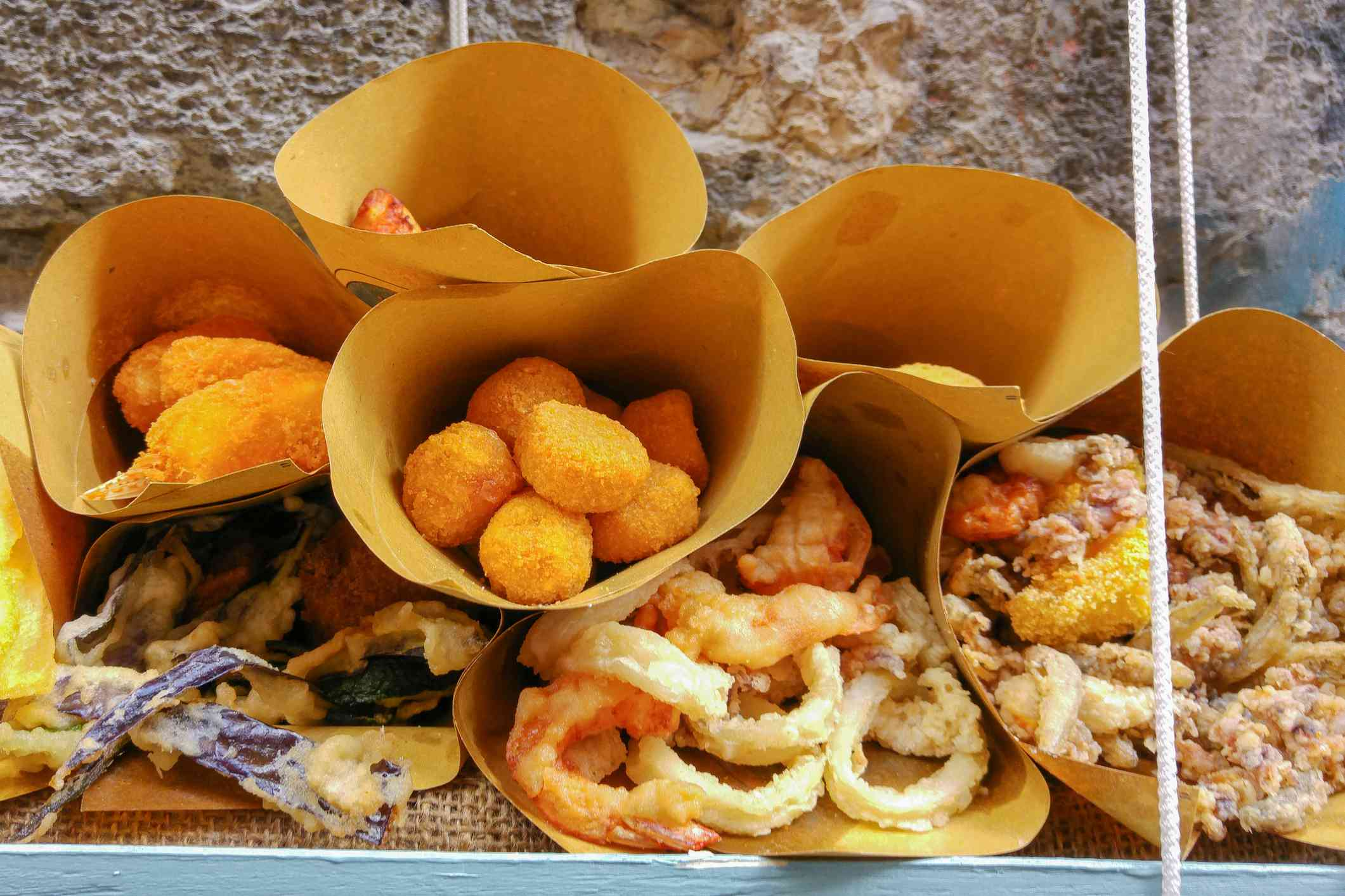 Fried street food in Naples
