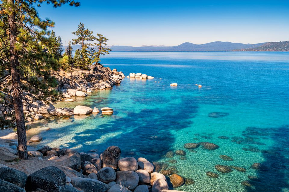 Beach at Lake Tahoe Sand Harbor Nevada USA