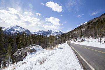 Bear Lake Road in Rocky Mountain National Park, Colorado