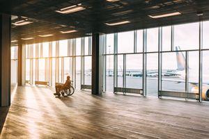 Man in the wheelchair
