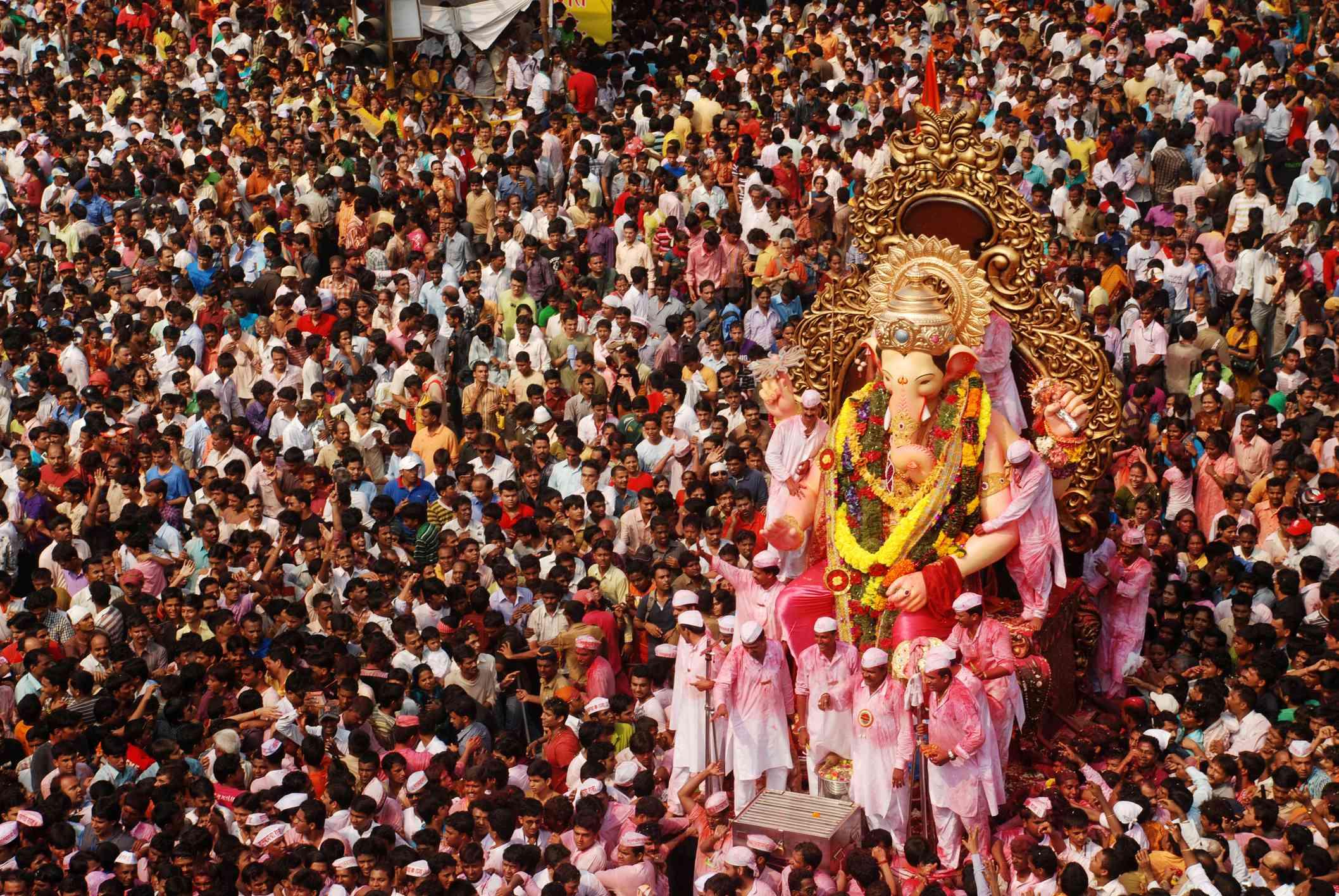 Mumbai durante el Festival de Ganesh