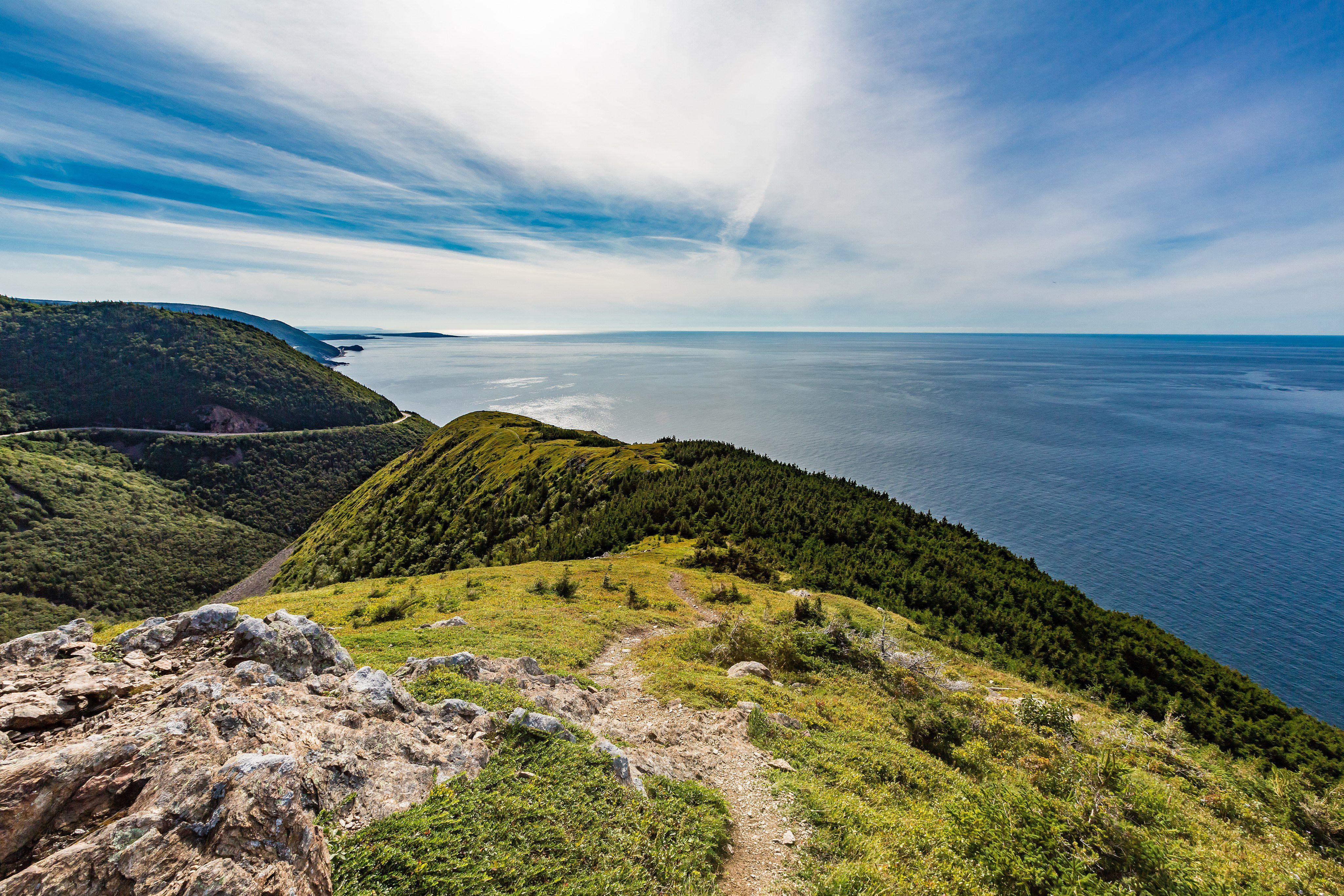 The Cabot Trail envuelve la isla de Cape Breton