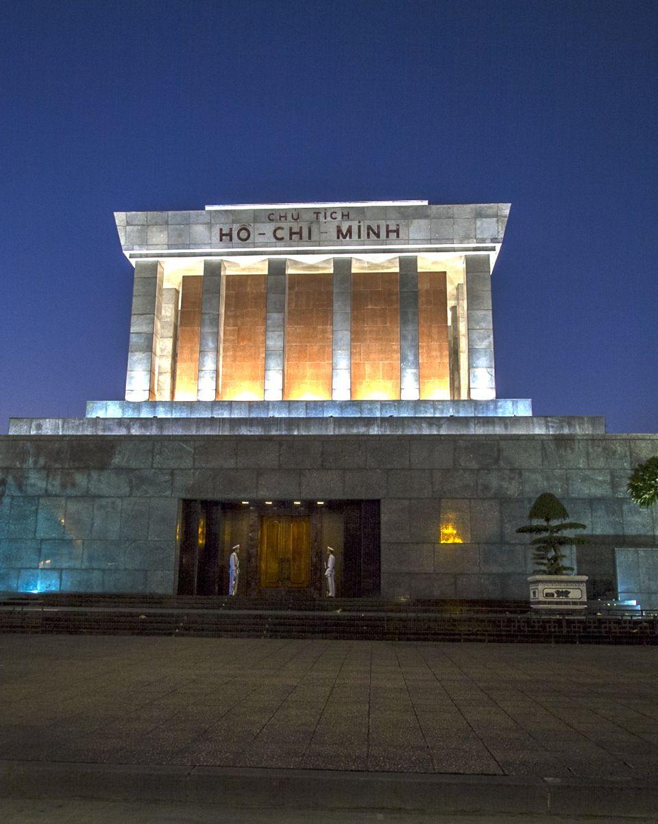 Ho Chi Minh Mausoleum at night