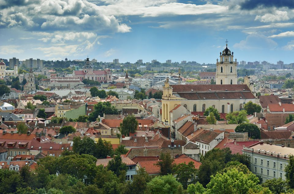 Lithuania, Vilnius, View of old town