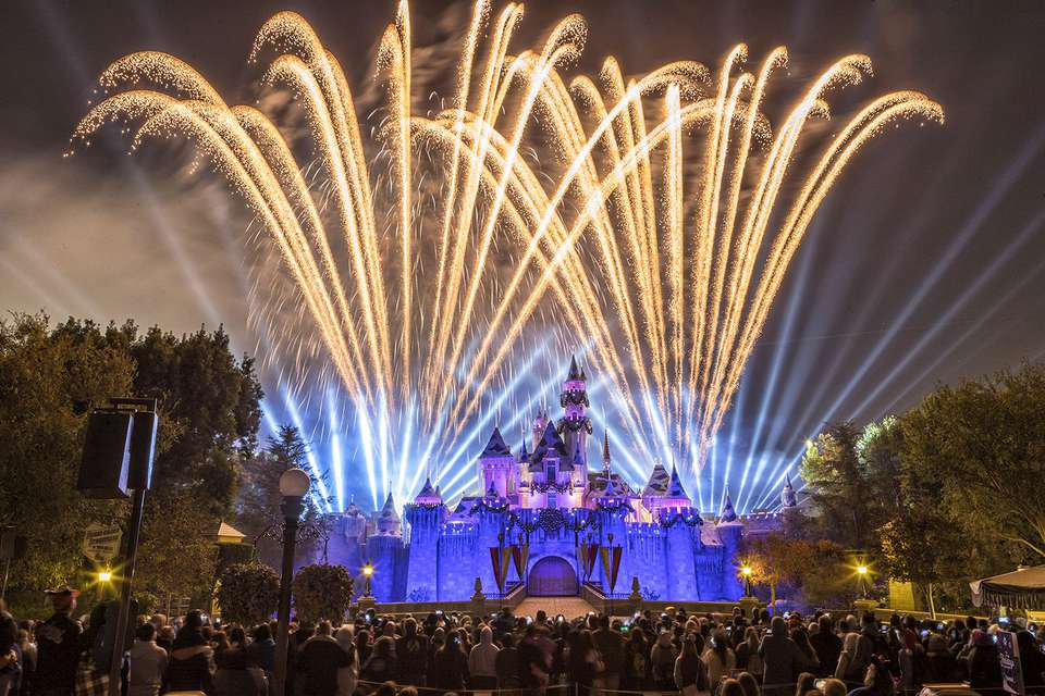Fireworks Above the Disneyland Castle