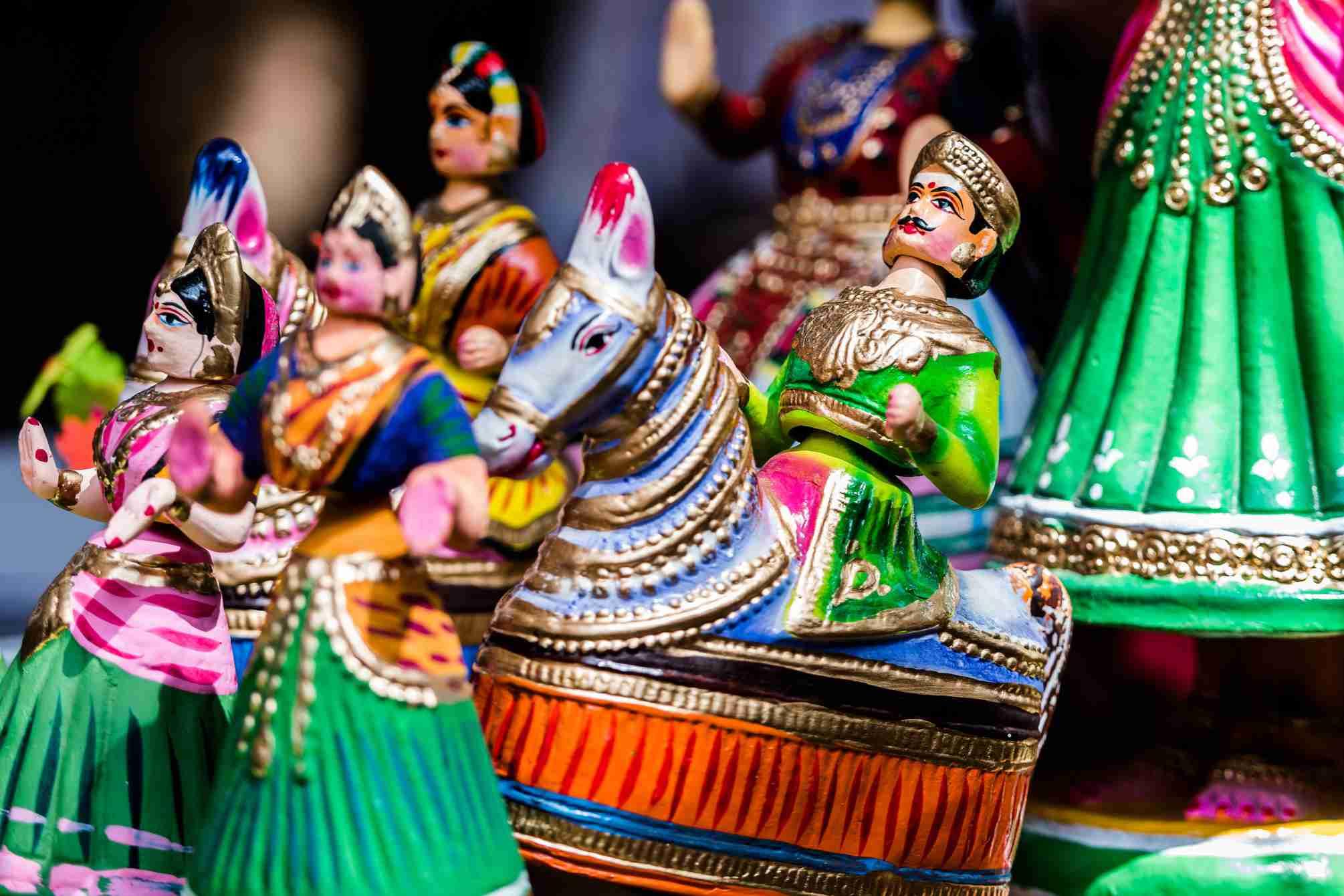 Thanjavur dolls.