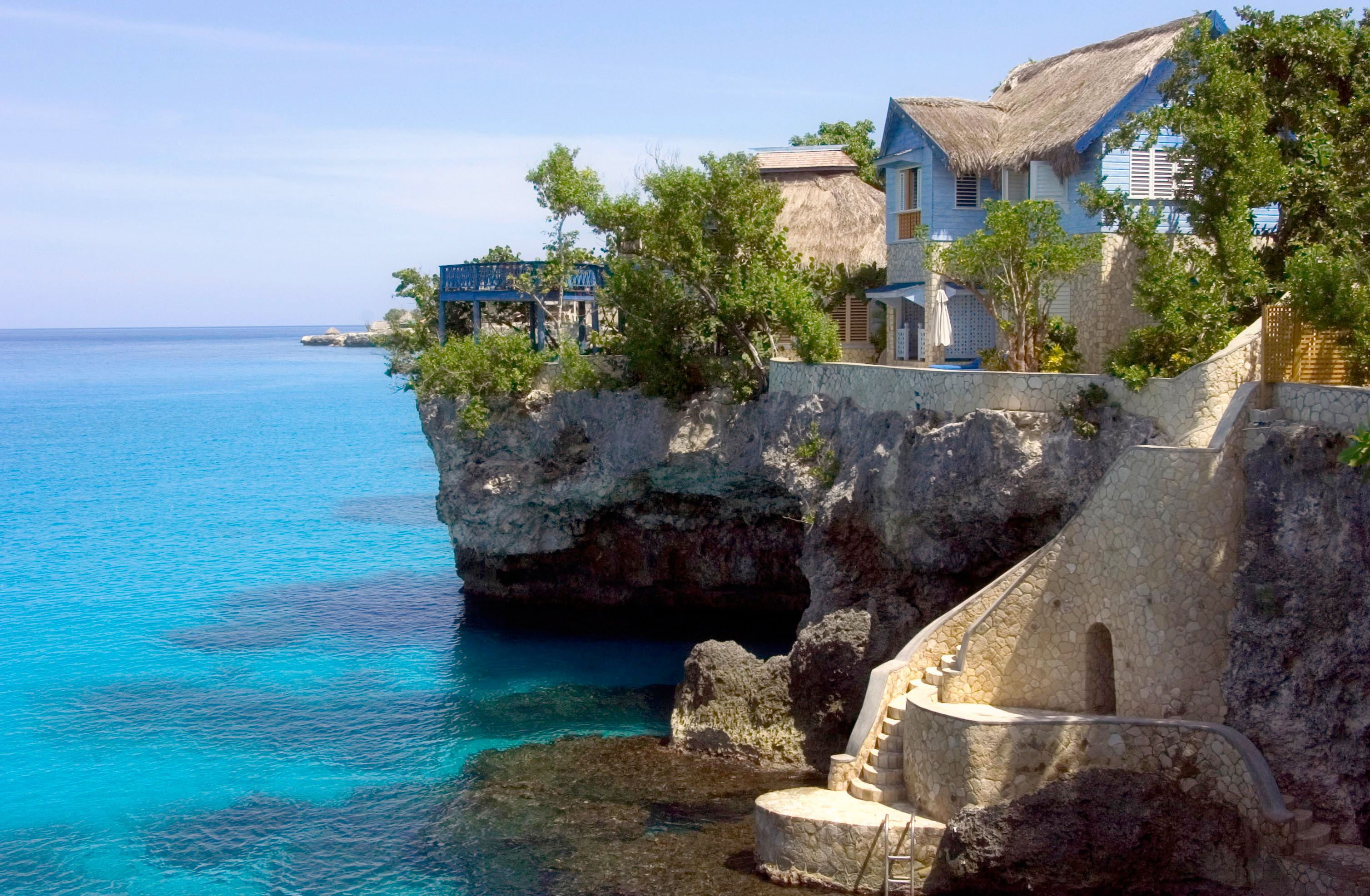 Cabaña en el hotel Caves en Negril