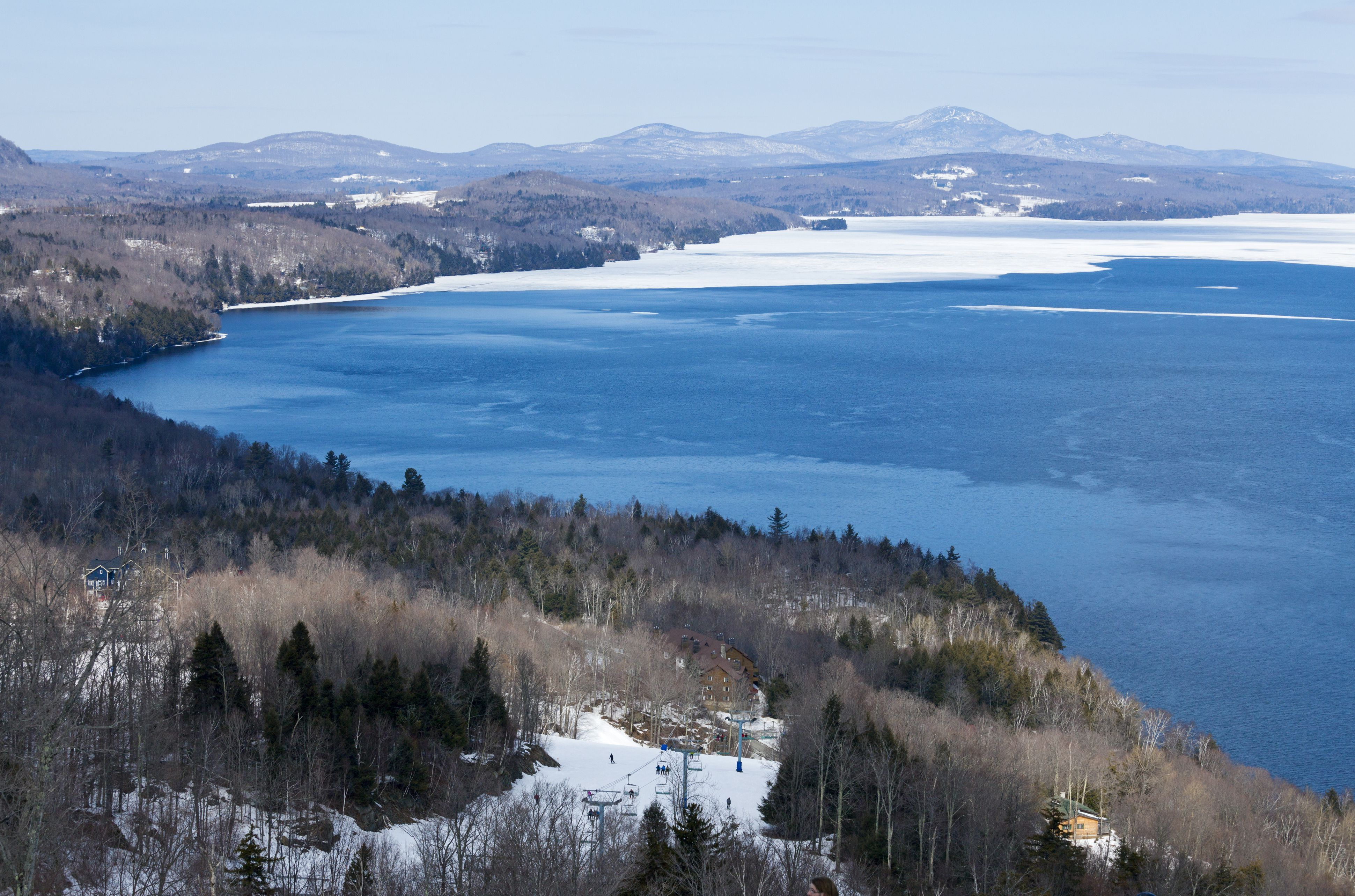 Canada, Quebec province, Eastern Townships, Owl's Head ski slopes