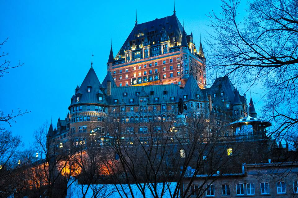 Hotel Fairmont Le Chateau Frontenac in Old Quebec