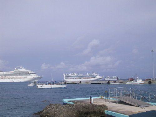 Cruise Ships at Anchor Off Grand Cayman Island