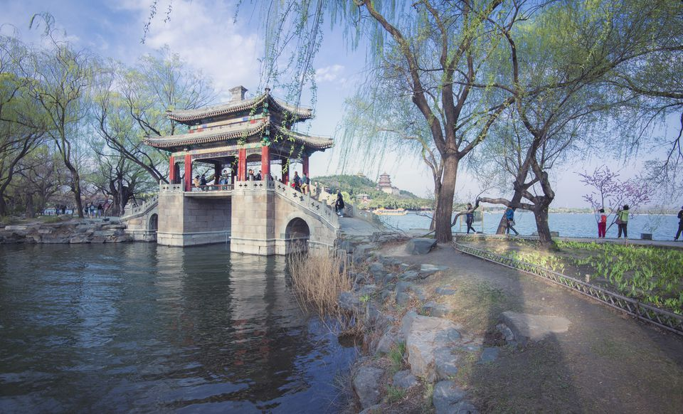 Chinese traditional bridge in Summer Palace