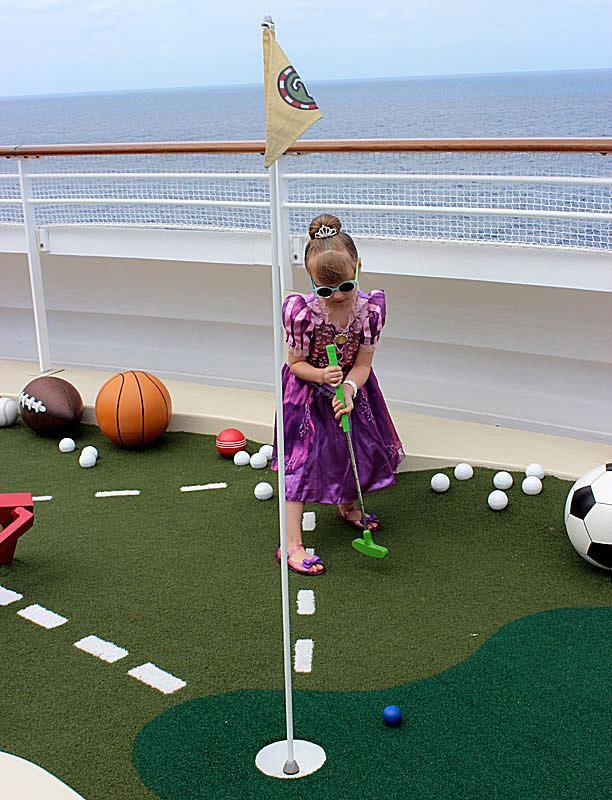 Miniature Golf on the Disney Fantasy Cruise Ship