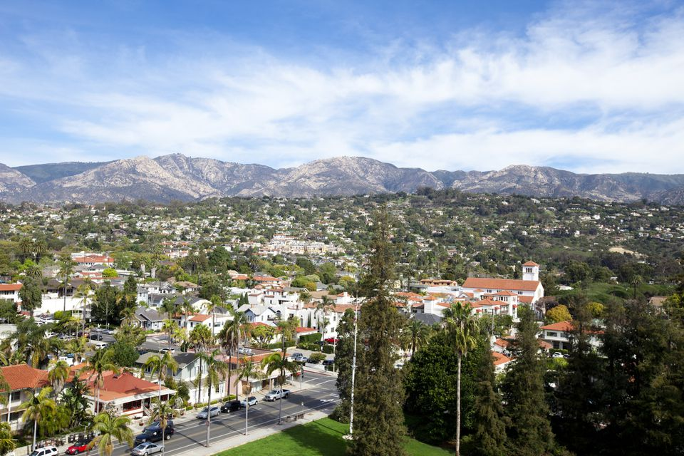 The town of Santa Barbara, California