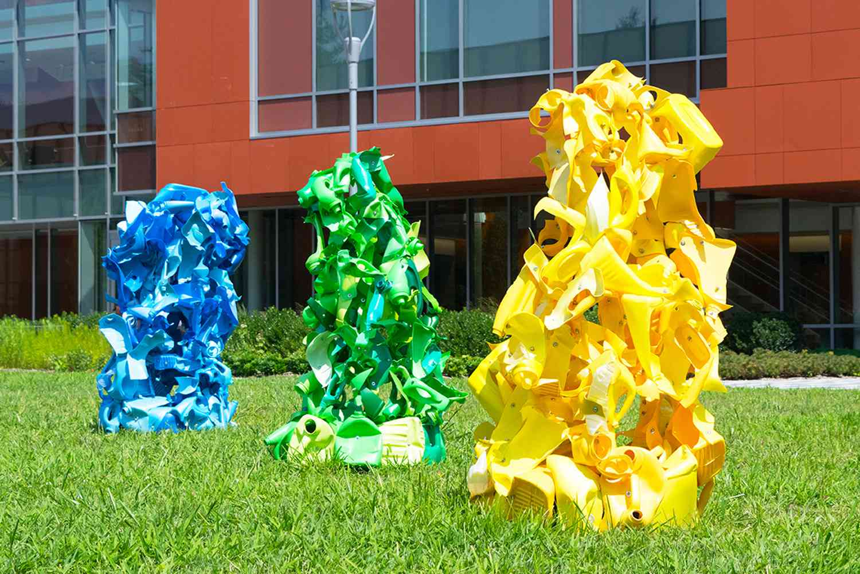 "Niki Lederer's ""High Smoke Point Yellow, Spot Free Clean Green, A Softness You Can Feel Blue"""