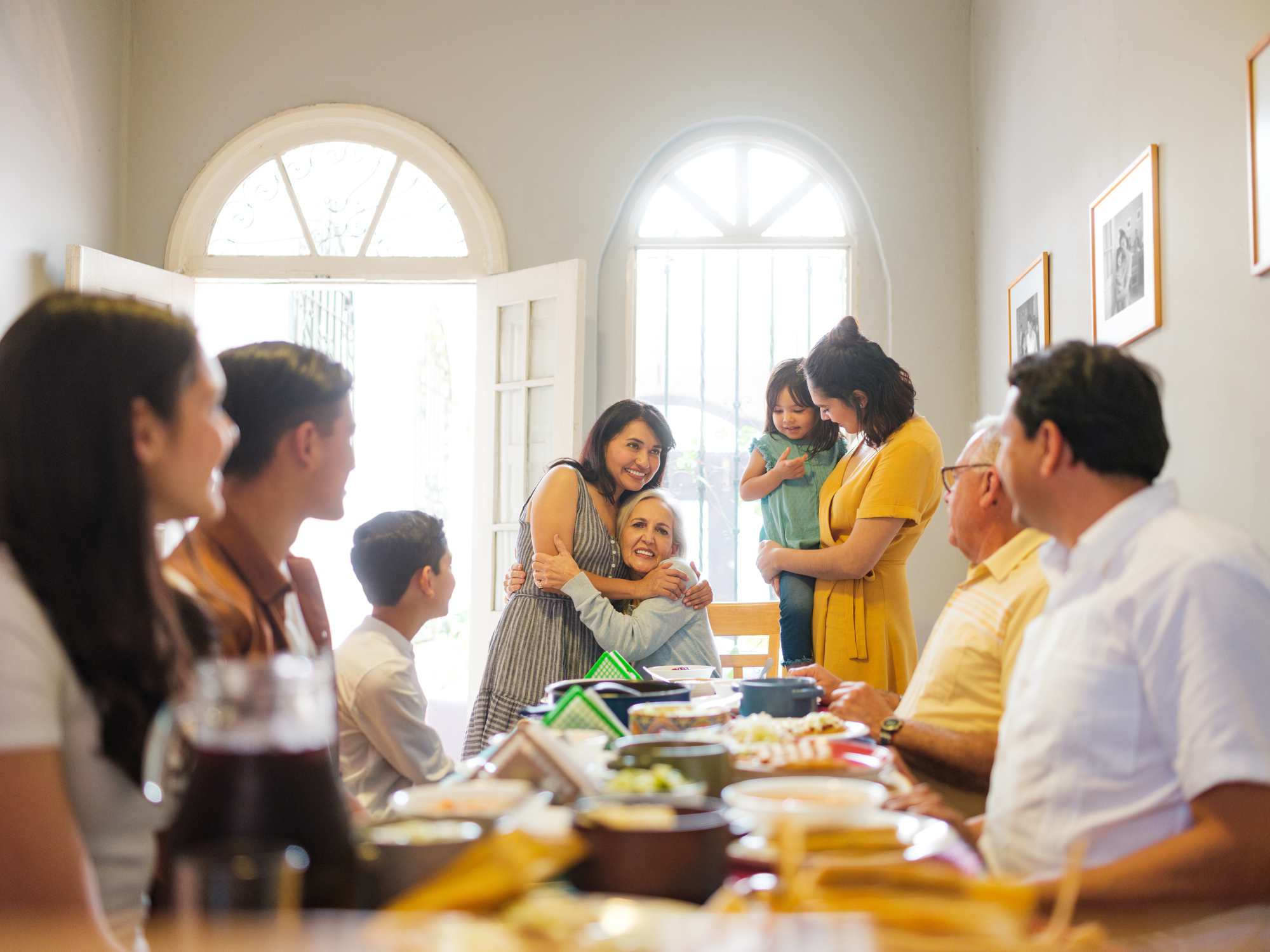 Mexican family celebrating Mother's Day