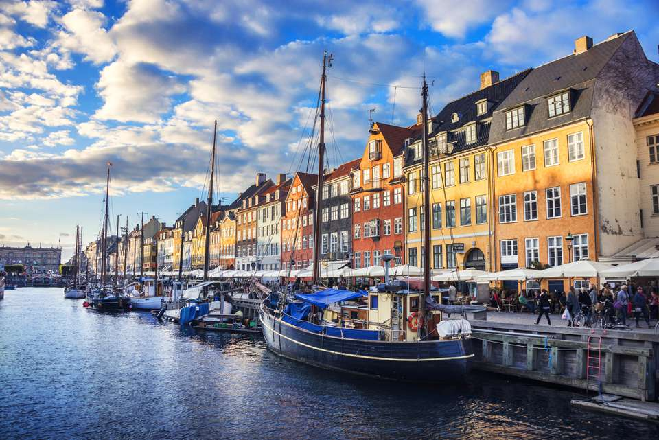 Colorful Traditional Houses in Copenhagen