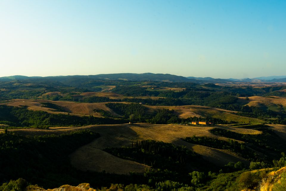 Rolling hills of Tuscany outside of Lucca