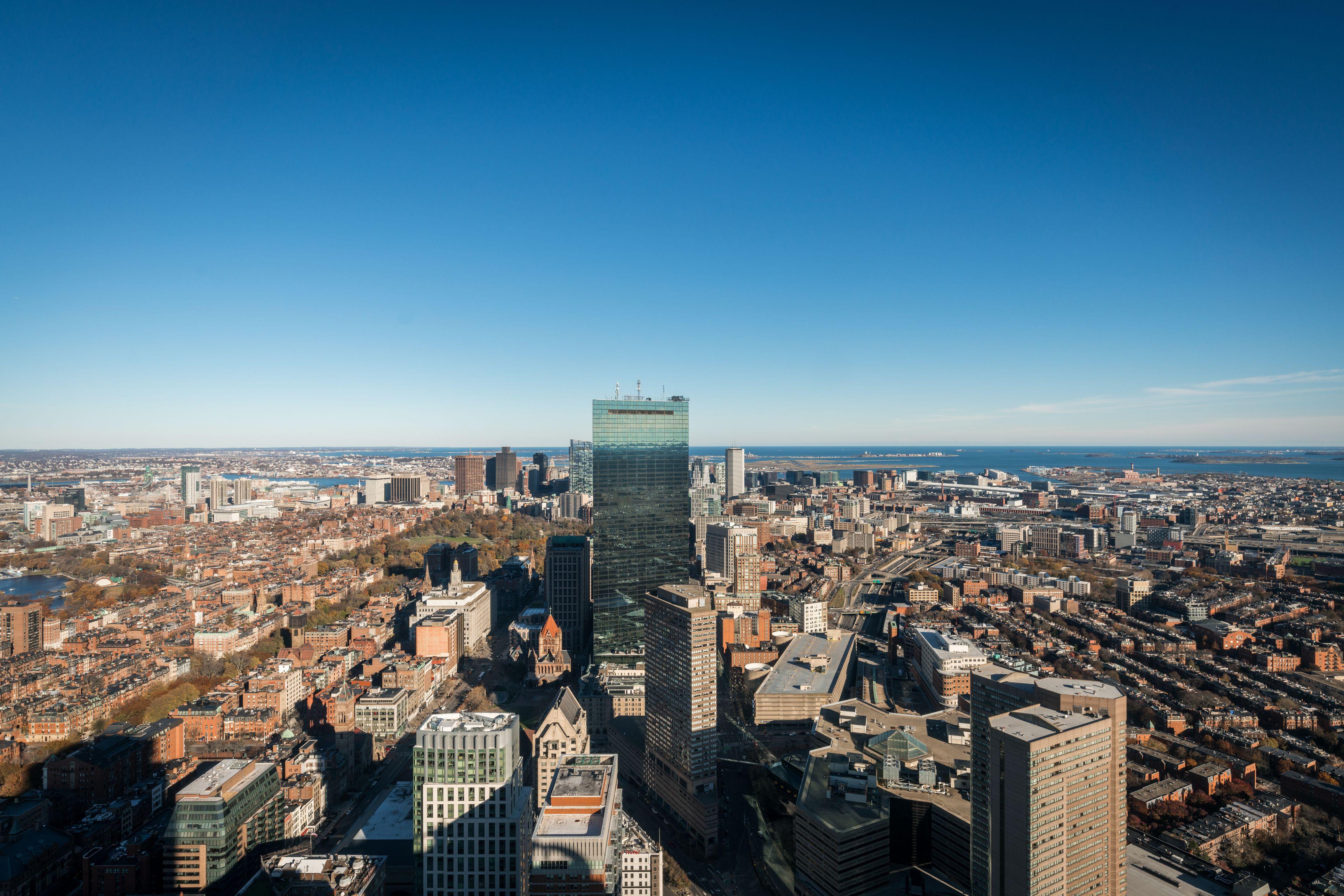 Paisaje urbano de Boston desde el Observatorio Skywalk del Prudential Center