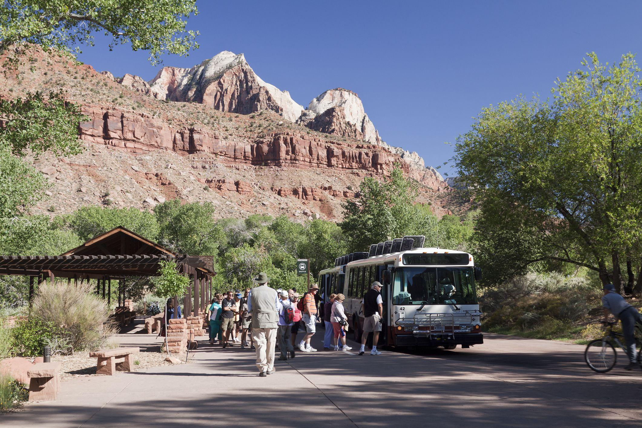 Zion Canyon shuttle bus