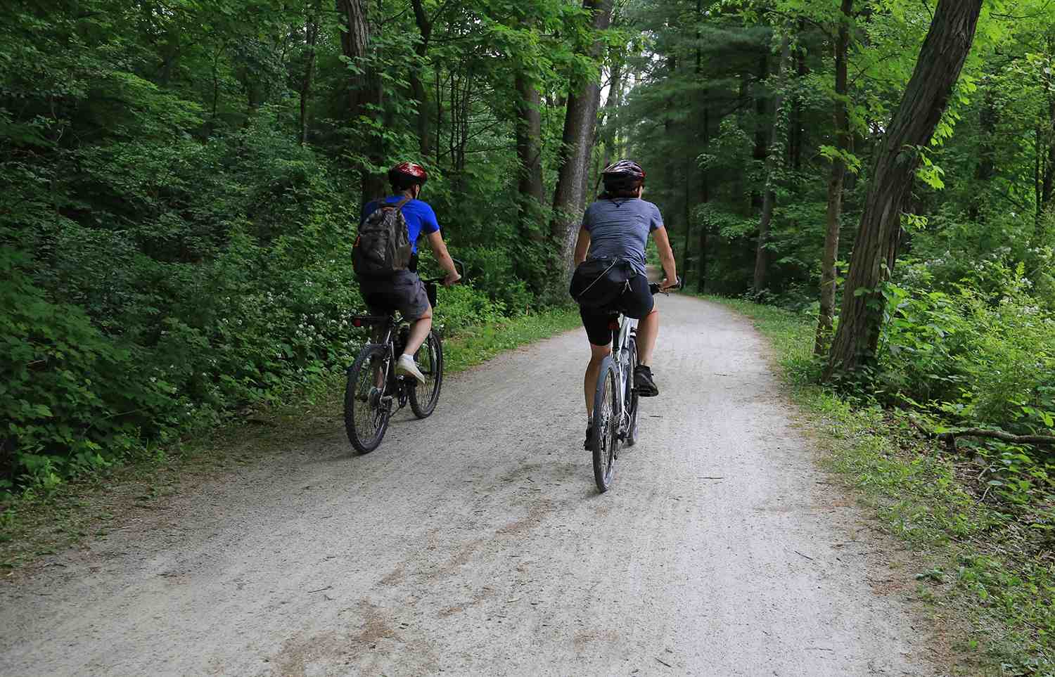Bicycles on the towpath trail, Cuyahoga Valley National Park, Akron