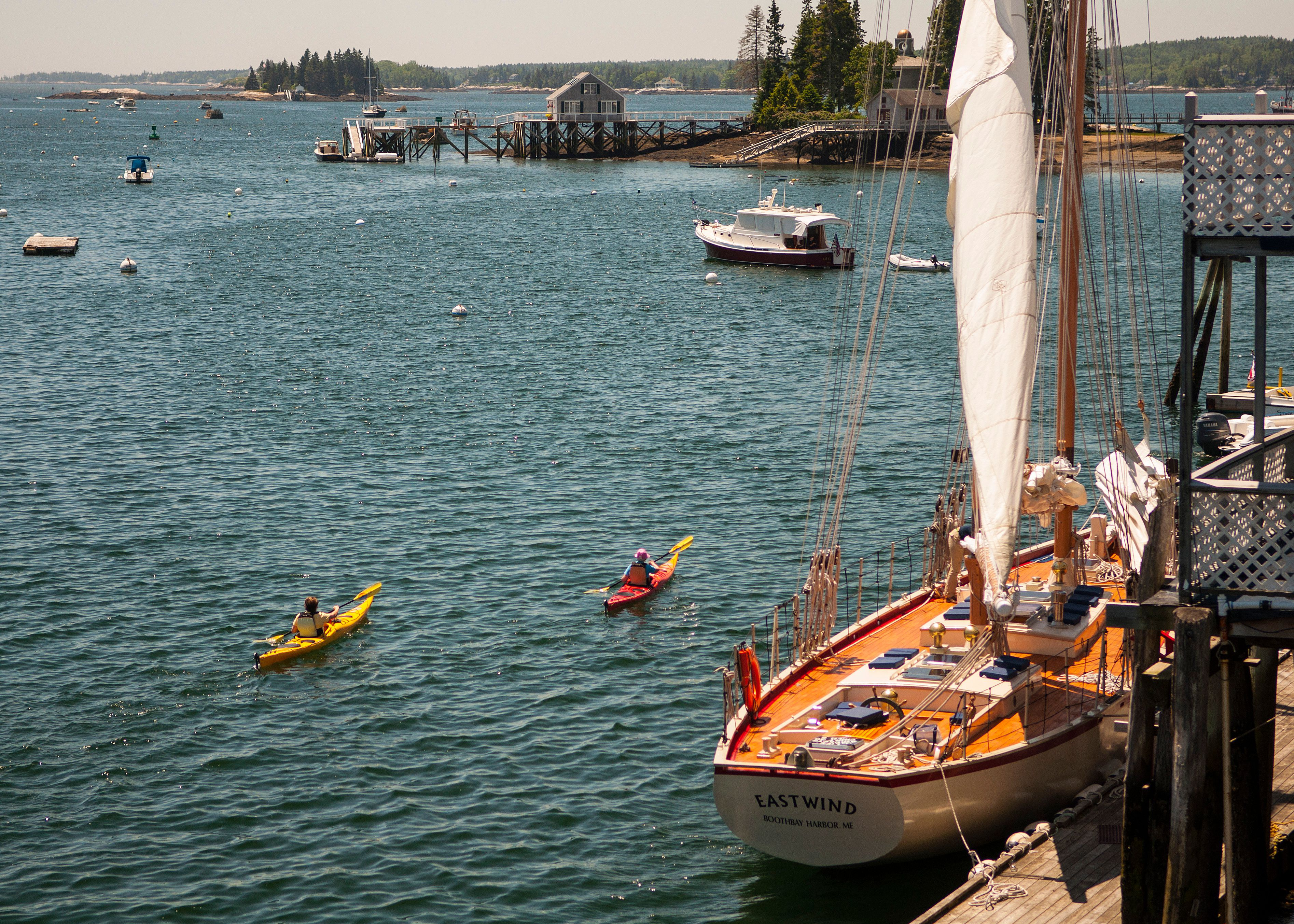 Sailing in Boothbay Harbor Maine