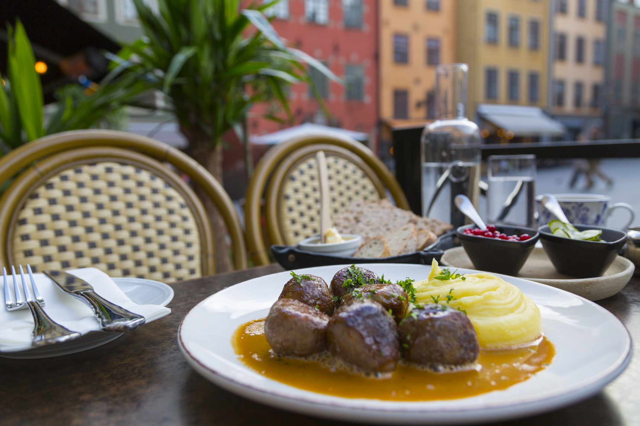Traditional Swedish dish of meatballs