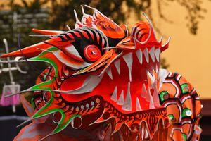 Dragon dance, Lunar New Year, International District, Seattle