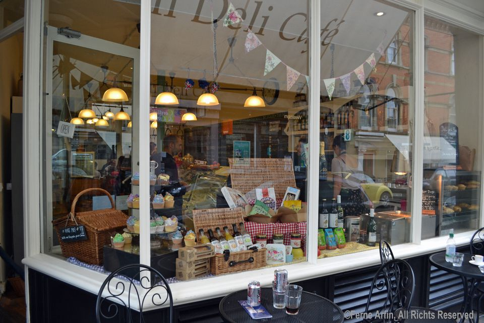 Trendy goodies in a Clifton Village deli. The village has dozens of local shops and cafes.