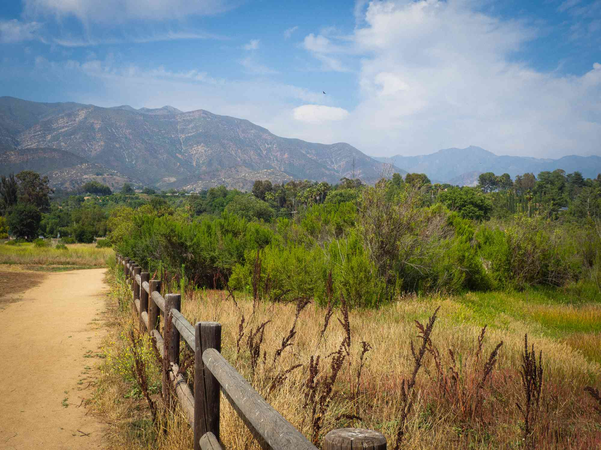 Scenic View Of Field Against Sky - stock photo Photo taken in Ojai, United States