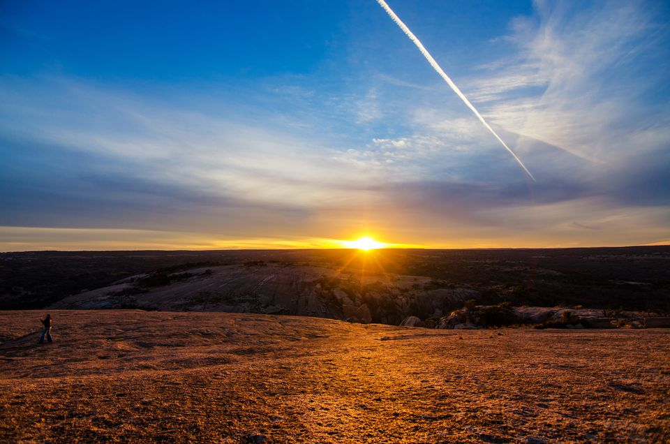 Enchanted Rock State Park empty at sunrise