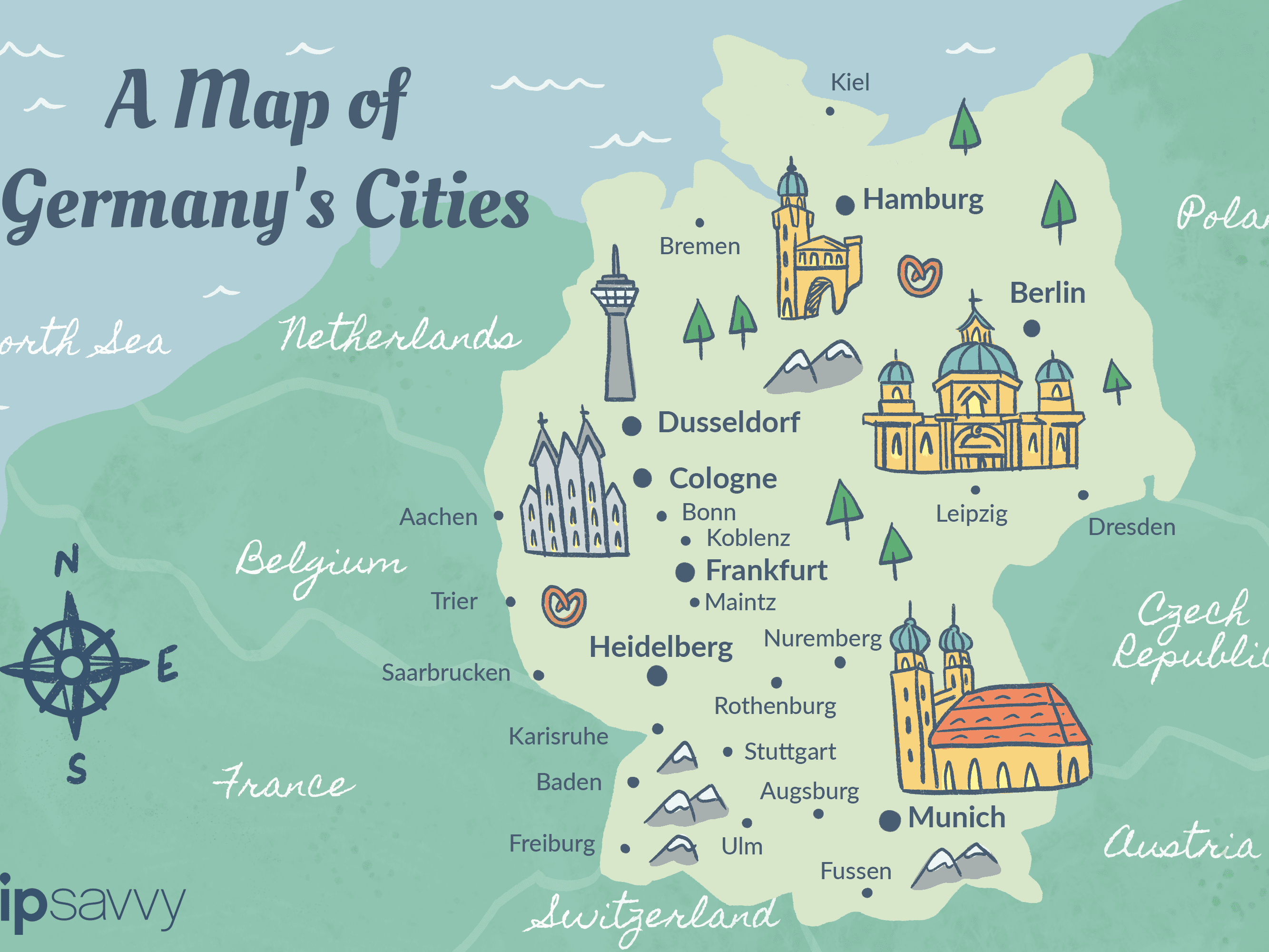 Map Of Germany Ulm.Germany Cities Map And Travel Guide