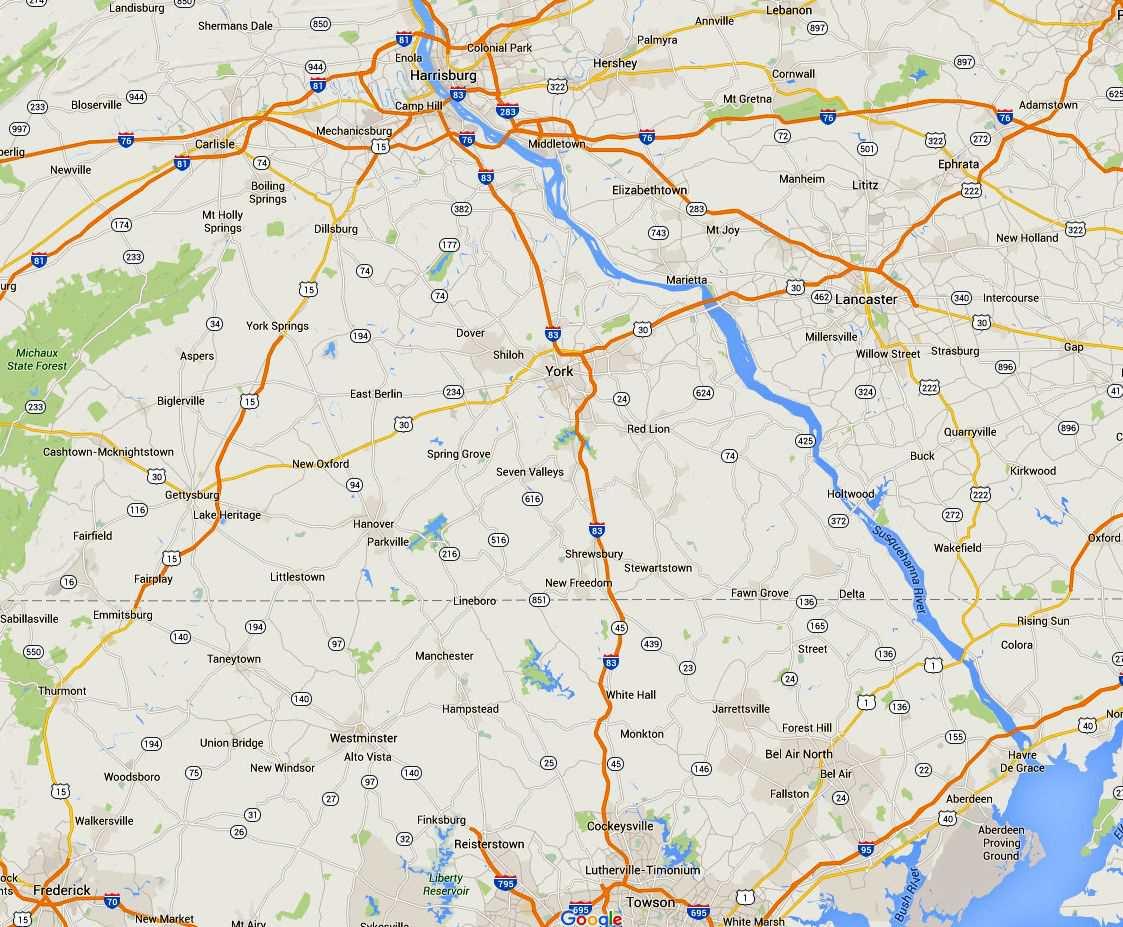 Maps Of The Chesapeake Bay - Us-physical-map-chesapeake-bay