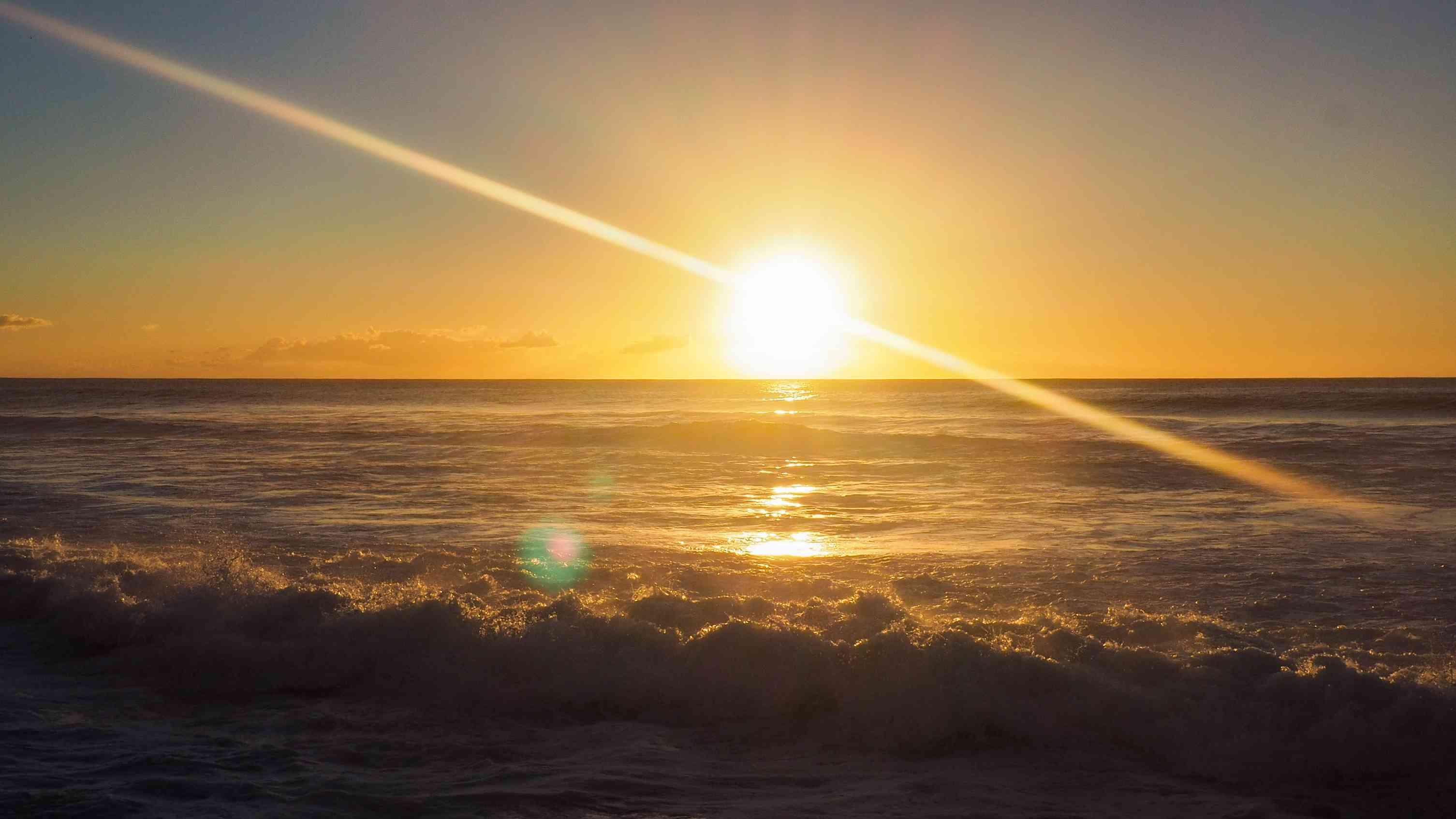 Sunset over the ocean on Waianae Coast